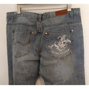 Winchester Mens Jeans Cowboy on Horse 40/32